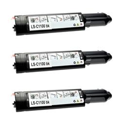 Logic-Seek 3 Toner kompatibel zu Epson C1100 0190 C13S050190 HC Schwarz