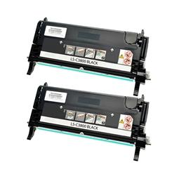 Logic-Seek 2 Toner kompatibel zu Epson C3800 1127 C13S051127 HC Schwarz