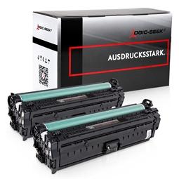 Logic-Seek 2 Toner kompatibel zu HP 651A CE340A HC Schwarz