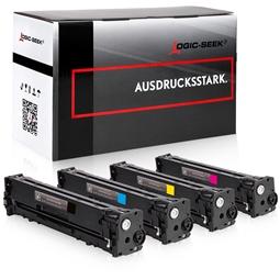 Logic-Seek 4 Toner kompatibel zu HP CF210X-CF213A HC