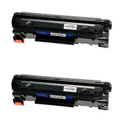 Logic-Seek 2 Toner kompatibel zu HP 36A CB436A HC Schwarz
