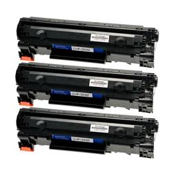 Logic-Seek 3 Toner kompatibel zu HP 36A CB436A HC Schwarz