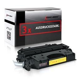 Logic-Seek 3 Toner kompatibel zu HP 05X CE505X HC Schwarz