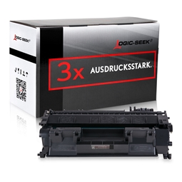 Logic-Seek 3 Toner kompatibel zu HP 80A CF280A HC Schwarz