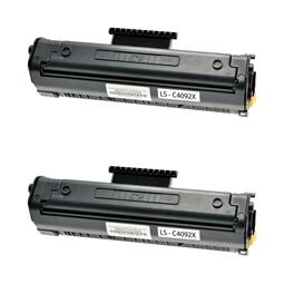 Logic-Seek 2 Toner kompatibel zu HP 92X C4092X HC Schwarz