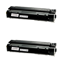 Logic-Seek 2 Toner kompatibel zu HP 15A C7115A HC Schwarz