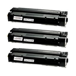 Logic-Seek 3 Toner kompatibel zu HP 15A C7115A HC Schwarz
