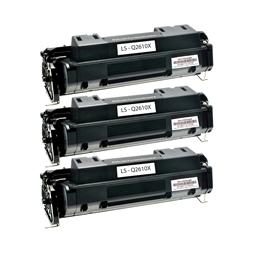 Logic-Seek 3 Toner kompatibel zu HP 10A Q2610A HC Schwarz