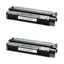 Logic-Seek 2 Toner kompatibel zu HP 24X Q2624X HC Schwarz