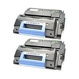 Logic-Seek 2 Toner kompatibel zu HP 45A Q5945A HC Schwarz