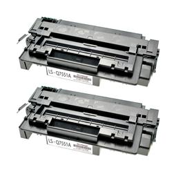 Logic-Seek 2 Toner kompatibel zu HP 51A Q7551A HC Schwarz