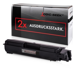 Logic-Seek 2 Toner kompatibel zu Kyocera TK-580K 1T02KT0NL0 UHC Schwarz