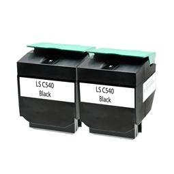 Logic-Seek 2 Toner kompatibel zu Lexmark C540 C540H2KG HC Schwarz
