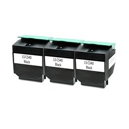 Logic-Seek 3 Toner kompatibel zu Lexmark C540 C540H2KG HC Schwarz