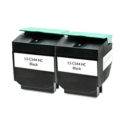 Logic-Seek 2 Toner kompatibel zu Lexmark C540 X544 XL C544X2KG HC Schwarz