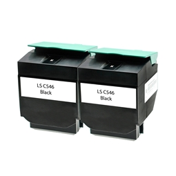 Logic-Seek 2 Toner kompatibel zu Lexmark C546 XXL C546U2KG UHC Schwarz