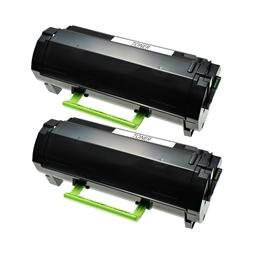 Logic-Seek 2 Toner kompatibel zu Lexmark MX310 MX410 602 60F2000 HC Schwarz