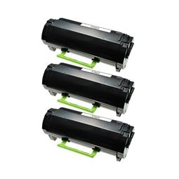 Logic-Seek 3 Toner kompatibel zu Lexmark MX510 MX610 600XA 60F0XA0 HC Schwarz