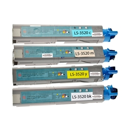Logic-Seek 4 Toner kompatibel zu OKI C3520 HC