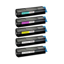 Logic-Seek 5 Toner kompatibel zu OKI C5100 HC
