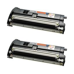 Logic-Seek 2 Toner kompatibel zu Epson C1000 S050033 C13S050033 HC Schwarz