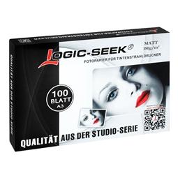 Logic-Seek Fotopapier A3 Matt 150g 100x A3100M150