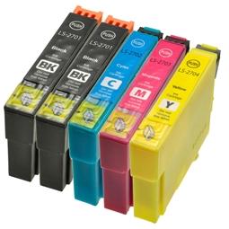 Logic-Seek 5 Tintenpatronen kompatibel zu Epson 27 XL