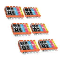Logic-Seek 30 Tintenpatronen kompatibel zu Canon PGI-550 CLI-551 XL