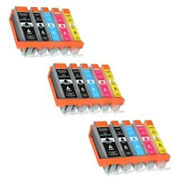 Logic-Seek 15 Tintenpatronen kompatibel zu Canon PGI-550 CLI-551 XL
