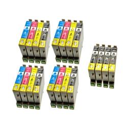 Logic-Seek 20 Tintenpatronen kompatibel zu Epson T0611-T0614 Stylus D68 XL
