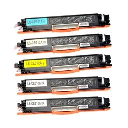 Logic-Seek 5 Toner kompatibel zu HP CE310A-CE313A HC