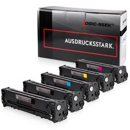 Logic-Seek 5 Toner kompatibel zu HP CF210X-CF213A HC