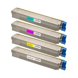 Logic-Seek 4 Toner kompatibel zu OKI C801 C821 HC