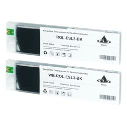 Logic-Seek 2 Tintenpatronen kompatibel zu Roland Eco-Sol Max ESL3-4BK XL Schwarz