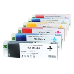 Logic-Seek 6 Tintenpatronen kompatibel zu Roland Eco-Sol Max XL