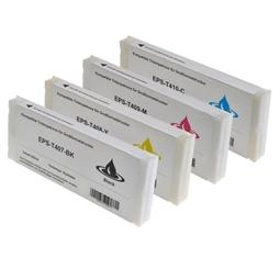 Logic-Seek 4 Tintenpatronen kompatibel zu Epson T407-T410 Pro 9000 XL