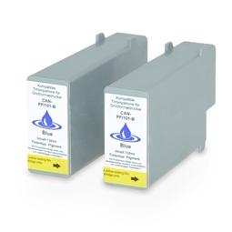 Logic-Seek 2 Tintenpatronen kompatibel zu Canon PFI-101B 0891B001 XL Blau