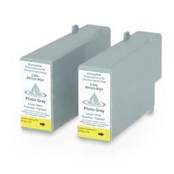 Logic-Seek 2 Tintenpatronen kompatibel zu Canon PFI-101PGY 0893B001 XL Grau