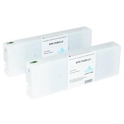 Logic-Seek 2 Tintenpatronen kompatibel zu Epson Pro 7900 9900 T6365 C13T636500 HC Hell Cyan