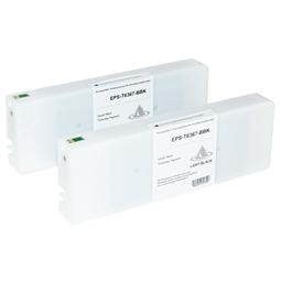 Logic-Seek 2 Tintenpatronen kompatibel zu Epson Pro 7900 9900 T6367 C13T636700 HC Hell Schwarz