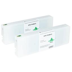 Logic-Seek 2 Tintenpatronen kompatibel zu Epson Pro 7900 9900 T636B C13T636B00 HC Grün