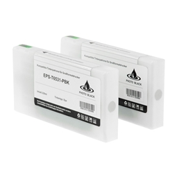 Logic-Seek 2 Tintenpatronen kompatibel zu Epson Pro 4900 T6531 C13T653100 XL Photo Schwarz