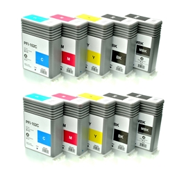 Logic-Seek 10 Tintenpatronen kompatibel zu Canon PFI-102 XL