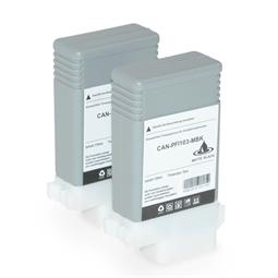 Logic-Seek 2 Tintenpatronen kompatibel zu Canon PFI-103MBK 2211B001 XL Matt Schwarz