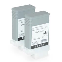 Logic-Seek 2 Tintenpatronen kompatibel zu Canon PFI-103 PFI-103BK 2212B001 XL Schwarz