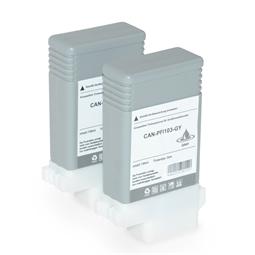 Logic-Seek 2 Tintenpatronen kompatibel zu Canon PFI-103GY 2213B001 XL Grau