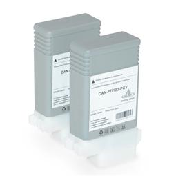 Logic-Seek 2 Tintenpatronen kompatibel zu Canon PFI-103PGY 2214B001 XL Grau