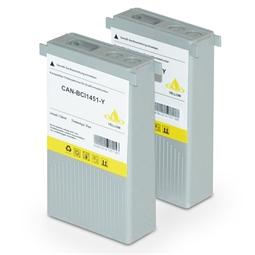 Logic-Seek 2 Tintenpatronen kompatibel zu Canon BCI-1451Y 0173B001 XL Yellow