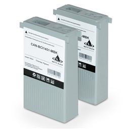 Logic-Seek 2 Tintenpatronen kompatibel zu Canon BCI-1451MBK 0175B001 XL Matt Schwarz