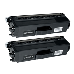 Logic-Seek 2 Toner kompatibel zu Brother TN-900BK HC Schwarz